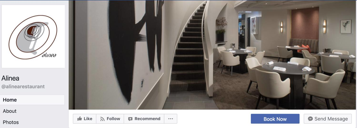 Example of Facebook page management: Alinea