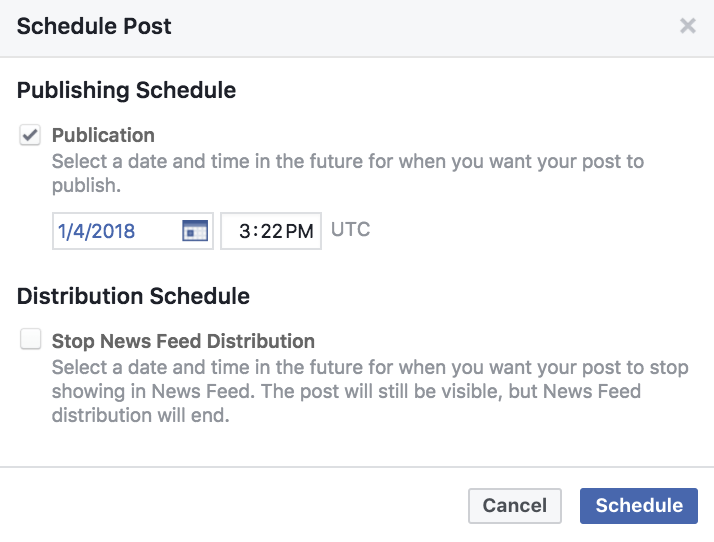 Establish a posting schedule